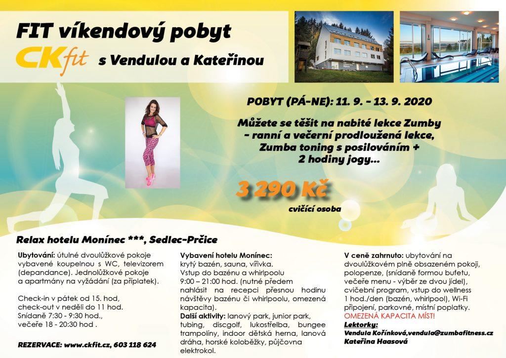 FIT víkendový pobyt s Vendulou a Kateřinou (ZMĚNA DATA)