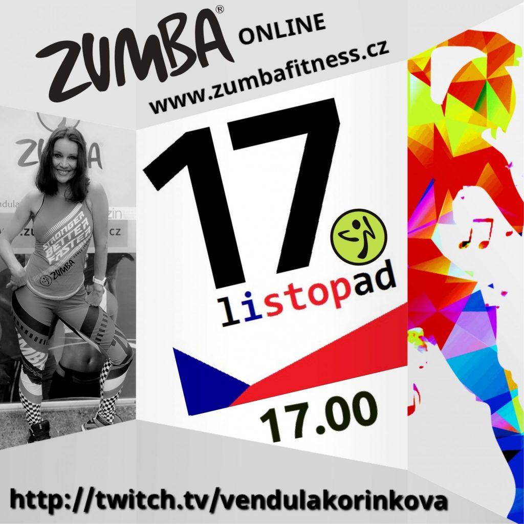 Zumba live stream k výročí sametové revoluce