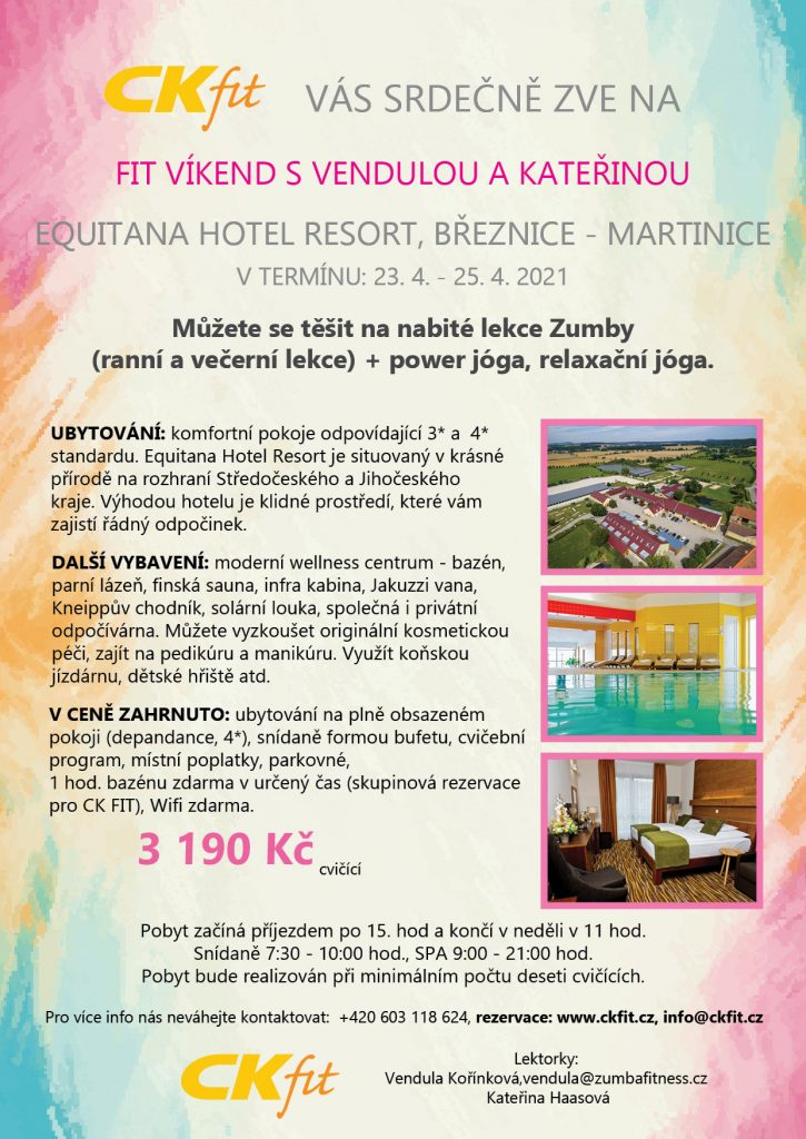 Zumba wellness víkend s jógou v hotelu Equitana